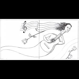 Ocupando tanto portada como reverso de las carátulas, aparece un híbrido entre mujer y guitarra cuyas manos tocan las cuerdas de la guitarra. De su cabello surge un pentagrama musical.