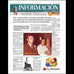 Adaptación llevada a cabo desde el programa Adobe Indesign para crear una portada de este diario, donde los titulares y fotografías tengan que ver con la celebración de las bodas de oro de Juan y Paqui.