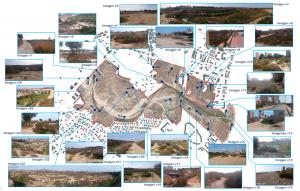 Mapa de visuales con los límites físicos del pfc ya definidos, tras haber visitado la desembocadura del Río Seco situada en El Campello in situ y haber tomado un total de 26 fotografías del sitio.