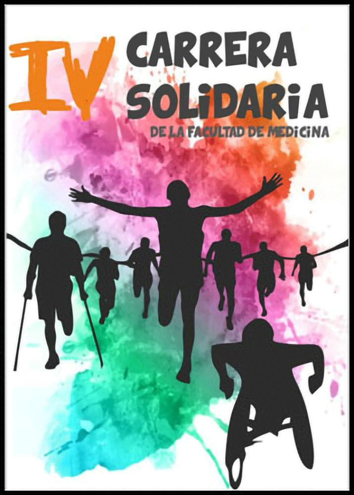 Cartel publicitario que ganó el concurso para la IV Carrera Solidaria de la facultad de medicina UMH.